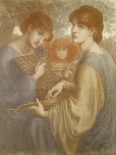 No. 1011 Study for 'The Bower Meadow', C.1872-Dante Gabriel Rossetti-Giclee Print