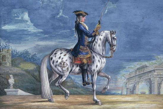 No. 11 an Appaloosa Horse of the Spanish Riding School, from the Imperial Stud in Bohemia-Baron Reis d' Eisenberg-Giclee Print