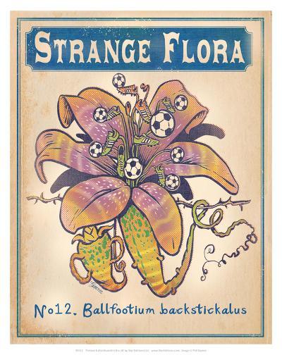 No.12 Ballfootium Backstickalus-Phil Garner-Art Print
