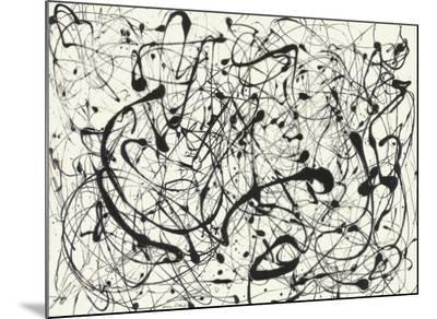 No. 14 (Gray)-Jackson Pollock-Mounted Print