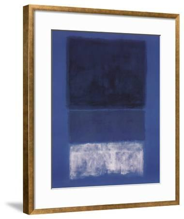 No 14. White and Greens in Blue-Mark Rothko-Framed Art Print