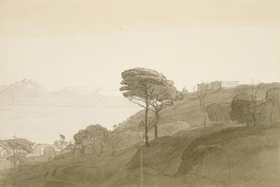 No.1621 View of the Bay of Naples and Mt. Lactarius, 1781 (W/C, Ink and Wash on Paper)-Francis Towne-Giclee Print