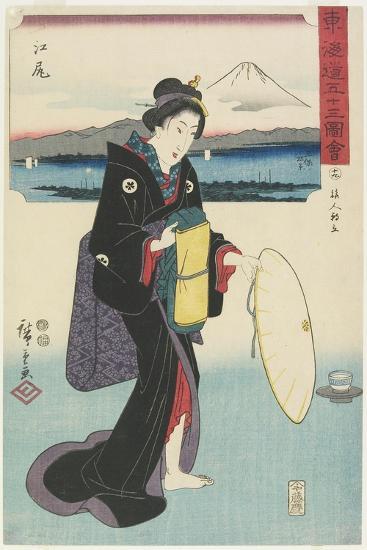 No.19: Ejiri, 1847-1852-Utagawa Hiroshige-Giclee Print