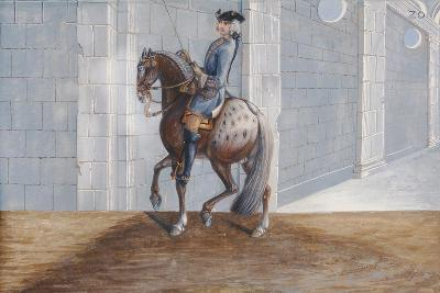 No. 20 a Dapple Grey Horse of the Spanish Riding School Performing the 'Volte' Dressage Step-Baron Reis d' Eisenberg-Giclee Print