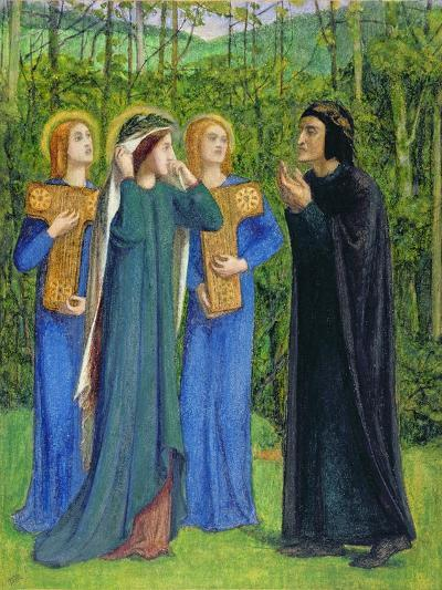 No.2292 the Salutation of Beatrice in Eden, 1850-54-Dante Gabriel Rossetti-Giclee Print