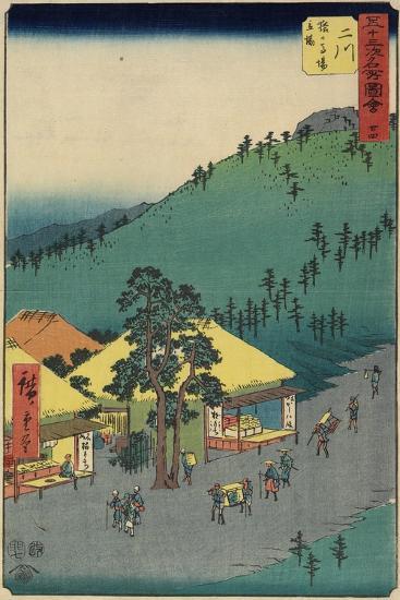 No.34 the Rest Area of Sarugababa, Futakawa, July 1855-Utagawa Hiroshige-Giclee Print