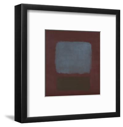 No. 37 / No. 19 (Slate Blue and Brown on Plum), 1958-Mark Rothko-Framed Art Print