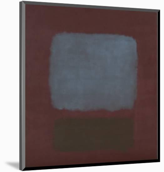 No. 37 / No. 19 (Slate Blue and Brown on Plum), 1958-Mark Rothko-Mounted Art Print