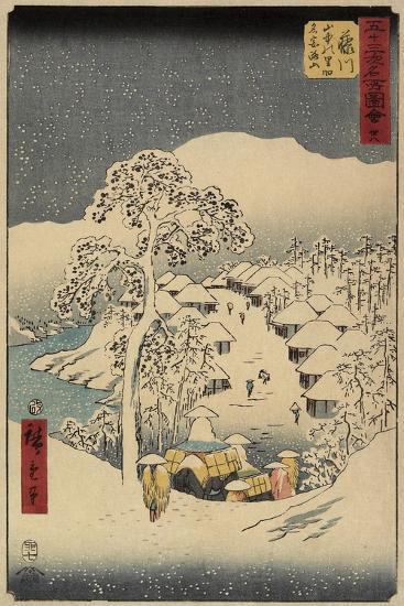 No.38 Yamanaka Village in Fujikawa, July 1855-Utagawa Hiroshige-Giclee Print