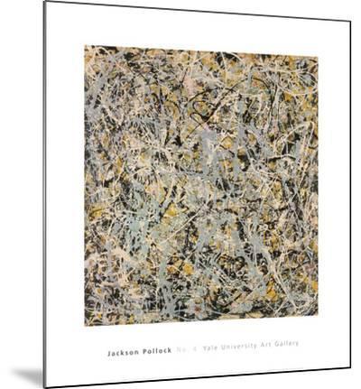 No. 4, 1949-Jackson Pollock-Mounted Print