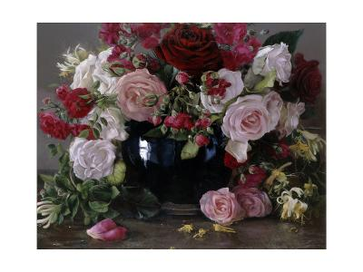 No 404, Roses Et Chèvrefeuille, 2013-Kira Weber-Giclee Print