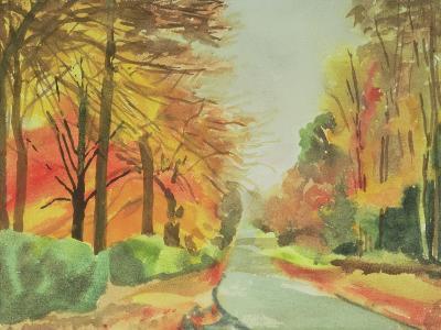 No.47 Autumn, Beaufays Road, Liege, Belgium-Izabella Godlewska de Aranda-Giclee Print