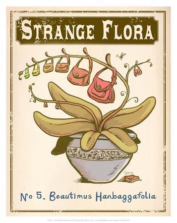 No.5 Beautimus Hanbaggafolia-Phil Garner-Art Print