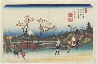 No.5: Distant View of Mt. Fuji as Seen from Omiya Station, 1830-1844-Keisai Eisen-Giclee Print