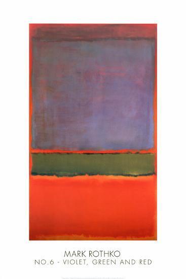 No. 6 (Violet, Green and Red), 1951-Mark Rothko-Art Print