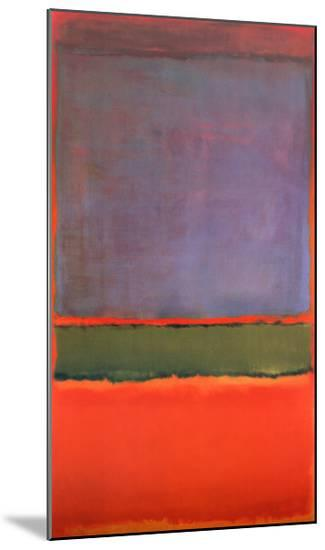 No. 6 (Violet, Green and Red), 1951-Mark Rothko-Mounted Print