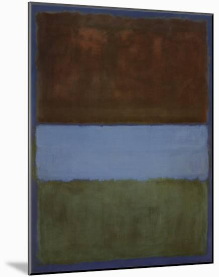 No. 61 (Brown, Blue, Brown on Blue), c.1953-Mark Rothko-Mounted Art Print