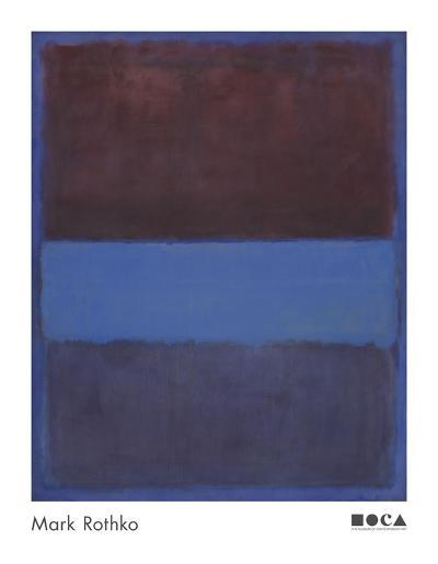 No. 61 (Rust and Blue) [Brown Blue, Brown on Blue], 1953-Mark Rothko-Art Print