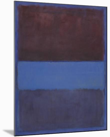 No. 61 (Rust and Blue) [Brown Blue, Brown on Blue], 1953-Mark Rothko-Mounted Art Print