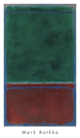 No. 7 (Green and Maroon), 1953-Mark Rothko-Art Print