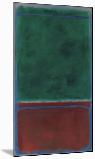 No. 7 (Green and Maroon), 1953-Mark Rothko-Mounted Art Print