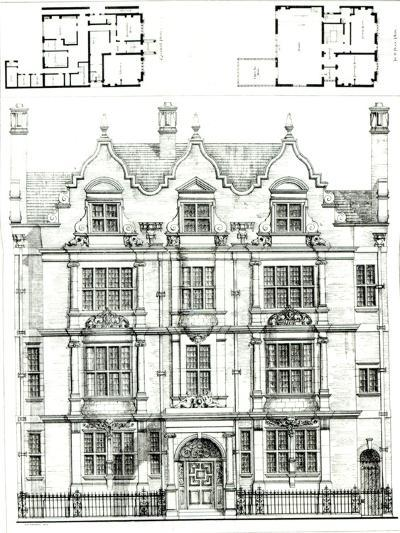 No.70 Ennismore Gardens, South Kensington, from The Building News, 23rd July 1886--Giclee Print