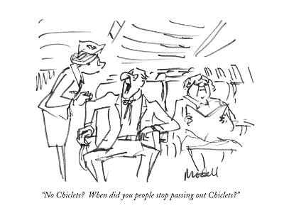 """No Chiclets?  When did you people stop passing out Chiclets?"" - New Yorker Cartoon-Frank Modell-Premium Giclee Print"