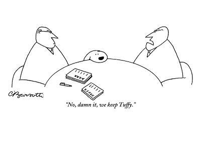 """No, damn it, we keep Tuffy."" - New Yorker Cartoon-Charles Barsotti-Premium Giclee Print"