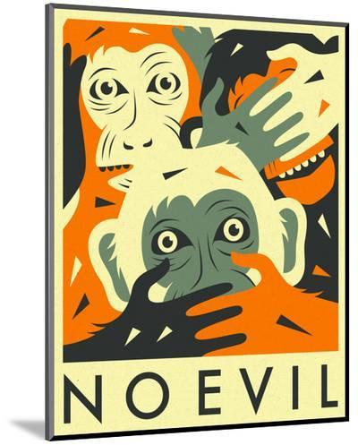 No Evil-Jazzberry Blue-Mounted Print