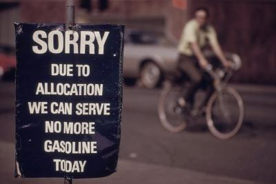 No Gas Sign During the Arab Oil Embargo after 1973 Yom Kipper War--Photo