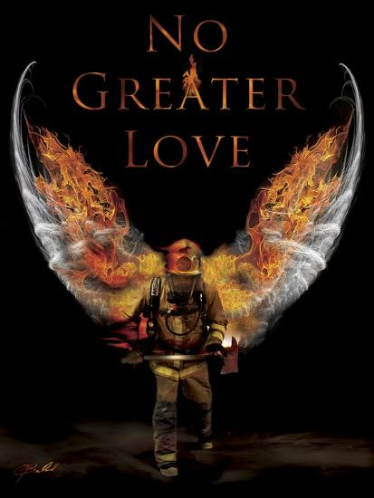 No Greater Love Fireman Giclee Print By Jason Bullard Art