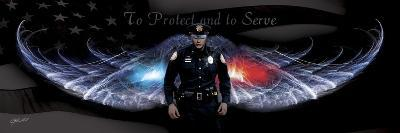 No Greater Love Police to Protect and to Serve-Jason Bullard-Giclee Print