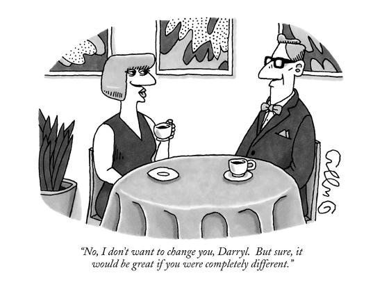 """""""No, I don't want to change you, Darryl.  But sure, it would be great if y?"""" - New Yorker Cartoon-J.C. Duffy-Premium Giclee Print"""
