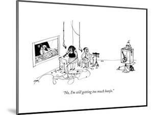 """No, I'm still getting too much banjo."" - New Yorker Cartoon"