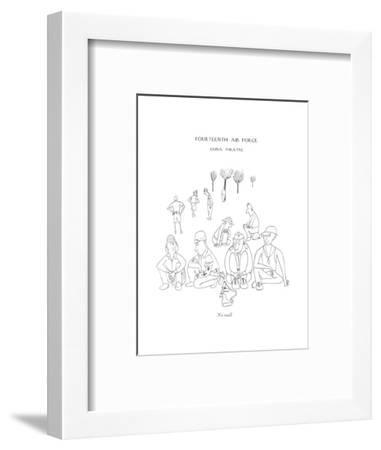 No mail - New Yorker Cartoon-Saul Steinberg-Framed Premium Giclee Print