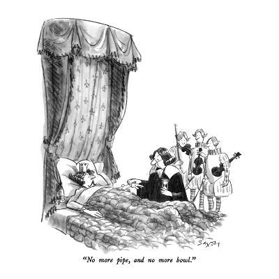 """No more pipe, and no more bowl."" - New Yorker Cartoon-Charles Saxon-Premium Giclee Print"
