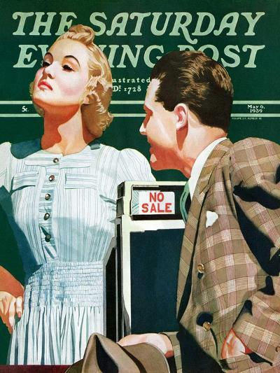 """'No Sale',"" Saturday Evening Post Cover, May 6, 1939-John Hyde Phillips-Giclee Print"