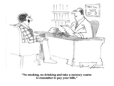 """No smoking, no drinking and take a memory course to remember to pay your ?"" - Cartoon-Bernard Schoenbaum-Premium Giclee Print"