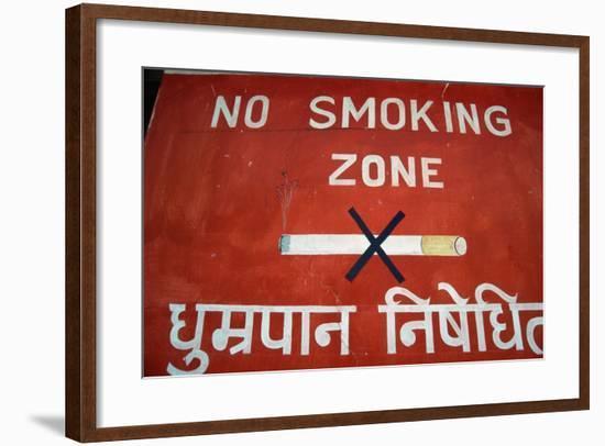 No Smoking Sign at Pokhara Airport-Macduff Everton-Framed Photographic Print
