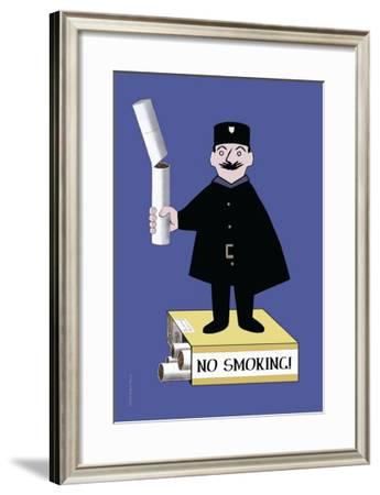 No Smoking--Framed Art Print