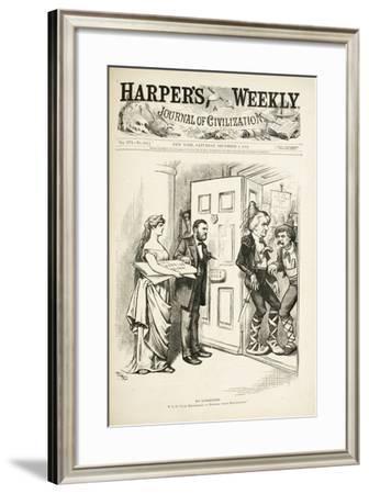 No Surrender; U.S.G., I Am Determined to Enforce Those Regulations, 1872-Thomas Nast-Framed Giclee Print
