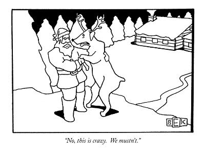 """No, this is crazy.  We mustn't."" - New Yorker Cartoon-Bruce Eric Kaplan-Premium Giclee Print"