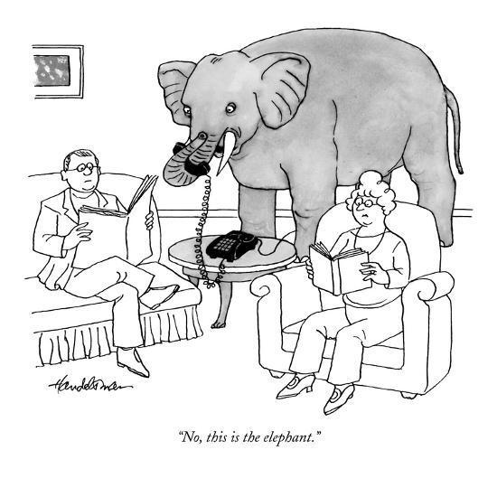 """No, this is the elephant."" - New Yorker Cartoon-J.B. Handelsman-Premium Giclee Print"
