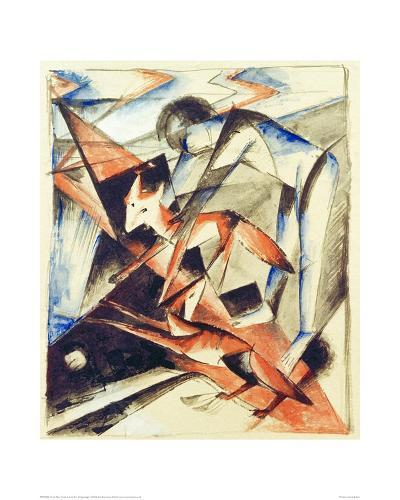 Noah and the fox-Franz Marc-Giclee Print