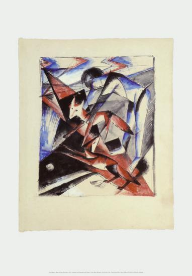 Noah and the Foxes, c.1913-Franz Marc-Art Print