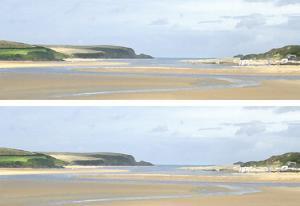 2-Up Sunlit Sands I by Noah Bay