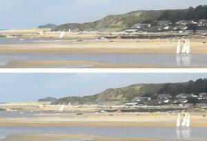 2-Up Sunlit Sands III by Noah Bay
