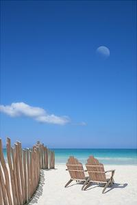 Chairs under the Moon by Noah Bay