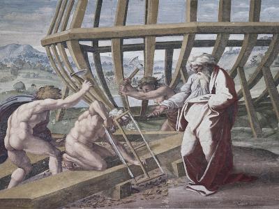 Noah Building the Ark-Raphael-Giclee Print