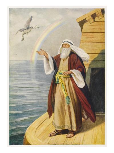 Noah on the Ark--Giclee Print